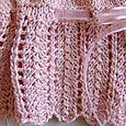 1st Communion Sweater - Lace detail