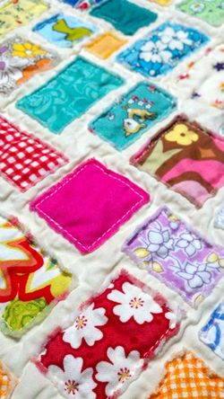 Scrap Fabric Doll Quilt7