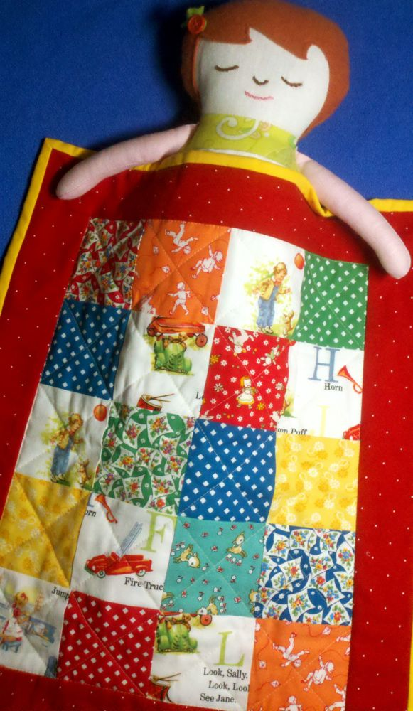 Dick and Jane Doll Quilt23