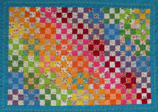Rainbow Smile Quilt - First Quilt