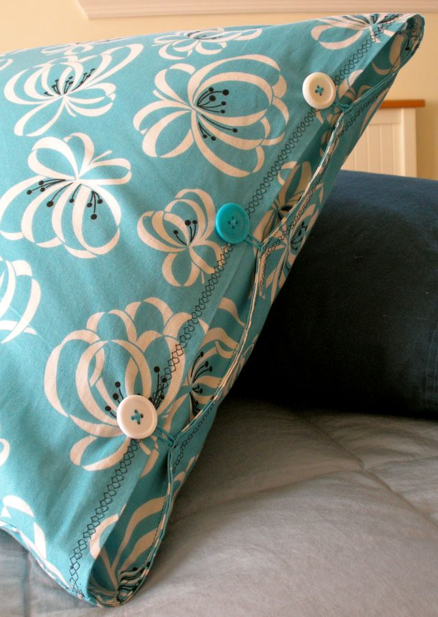 Pillowcase with Button Closure