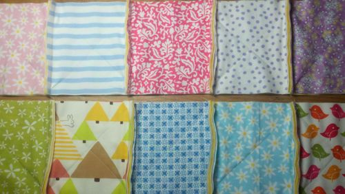 Step 6 - Sewing Squares Into Rows